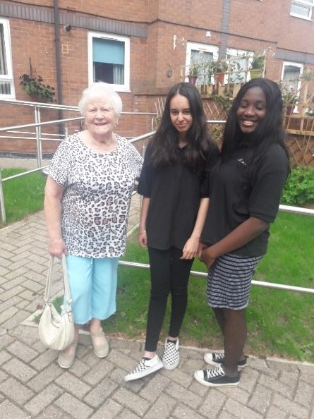 Ria and Vanakay with resident