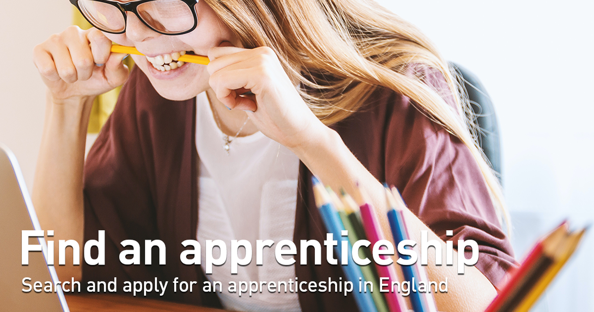 Search and apply for an apprenticeship in England