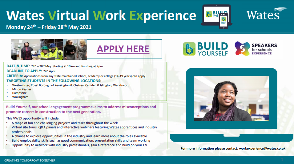 Wates Virtual Work Experience